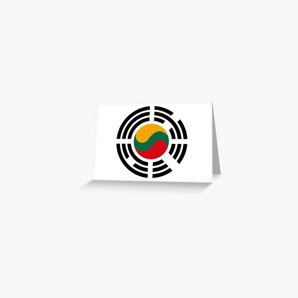 Korean Lithuanian Multinational Patriot Flag Series Greeting Card
