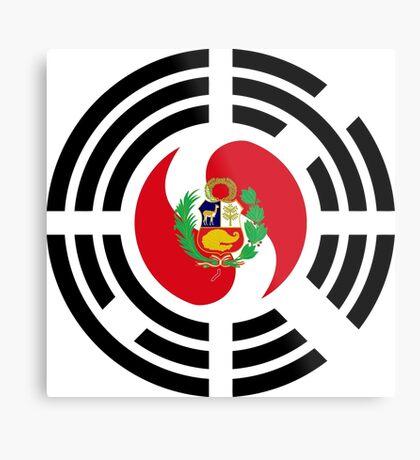 Korean Peruvian Multinational Patriot Flag Series Metal Print