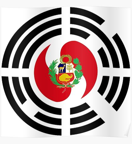 Korean Peruvian Multinational Patriot Flag Series Poster