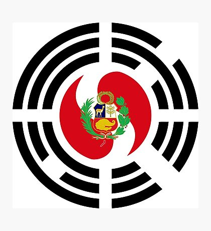 Korean Peruvian Multinational Patriot Flag Series Photographic Print
