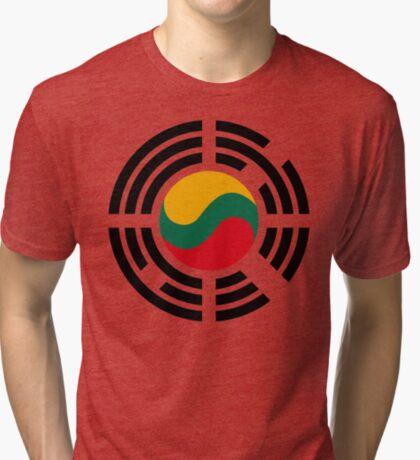 Korean Lithuanian Multinational Patriot Flag Series Tri-blend T-Shirt