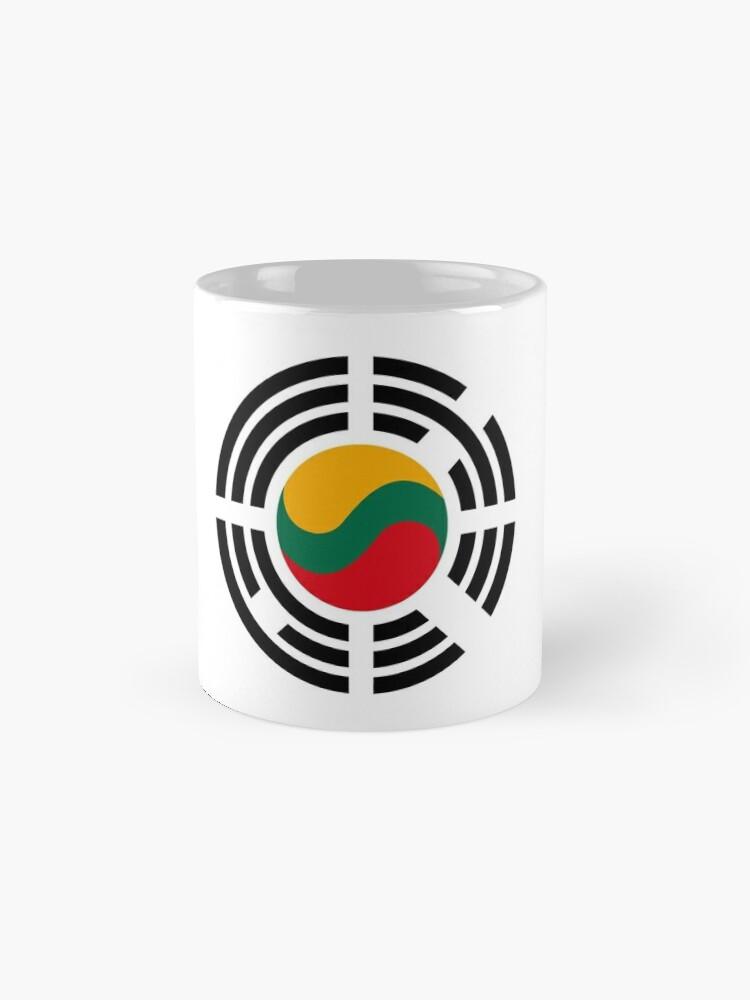 Alternate view of Korean Lithuanian Multinational Patriot Flag Series Mug
