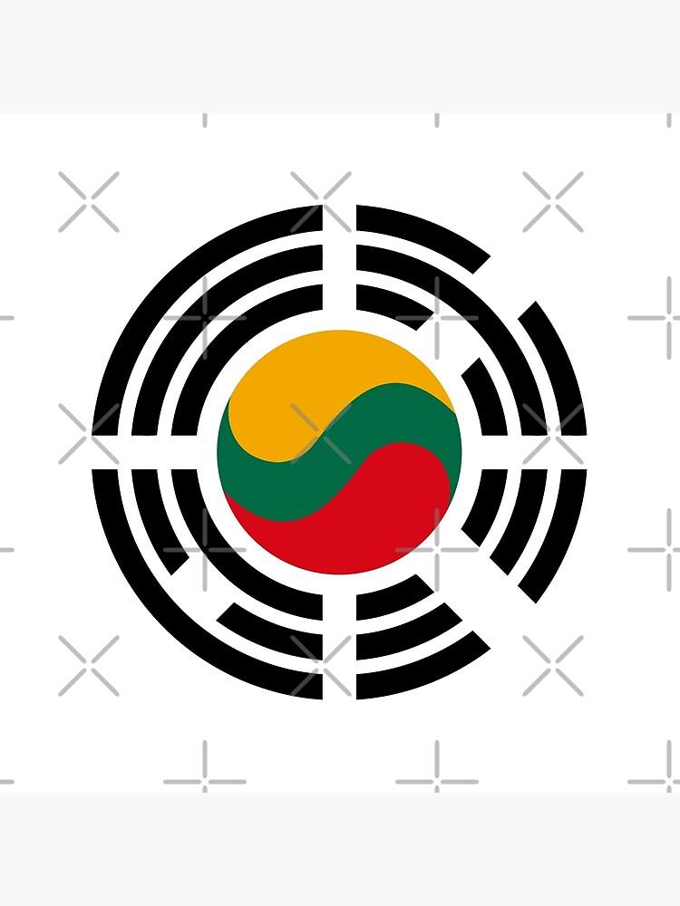 Korean Lithuanian Multinational Patriot Flag Series by carbonfibreme