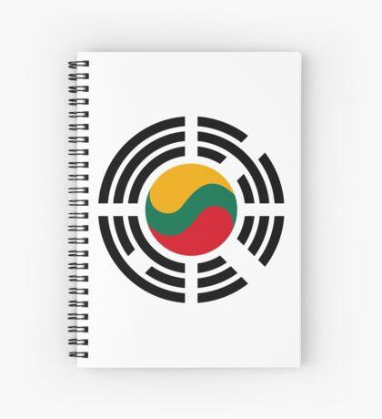 Korean Lithuanian Multinational Patriot Flag Series Spiral Notebook