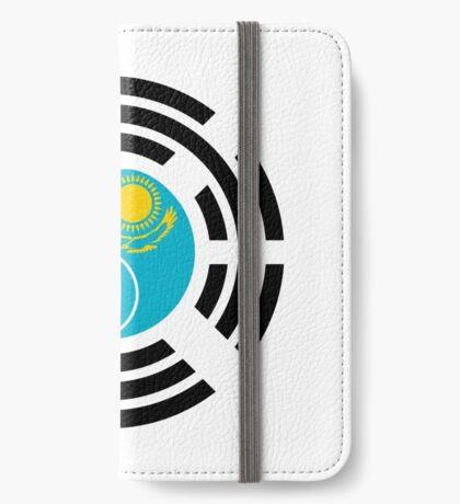 Korean Kazakhstan Multinational Patriot Flag Series iPhone Wallet