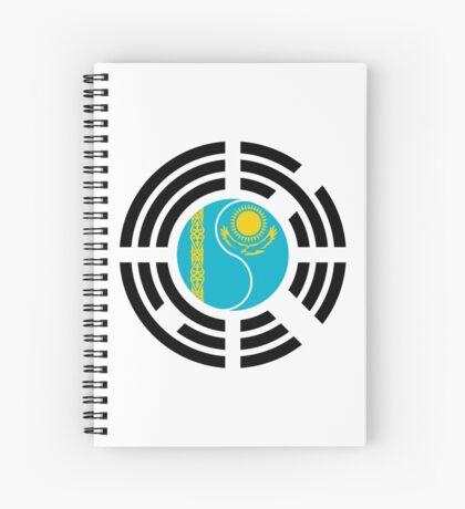 Korean Kazakhstan Multinational Patriot Flag Series Spiral Notebook