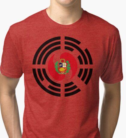 Korean Peruvian Multinational Patriot Flag Series Tri-blend T-Shirt