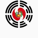 Korean Peruvian Multinational Patriot Flag Series by Carbon-Fibre Media