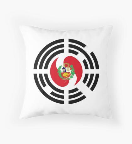Korean Peruvian Multinational Patriot Flag Series Throw Pillow