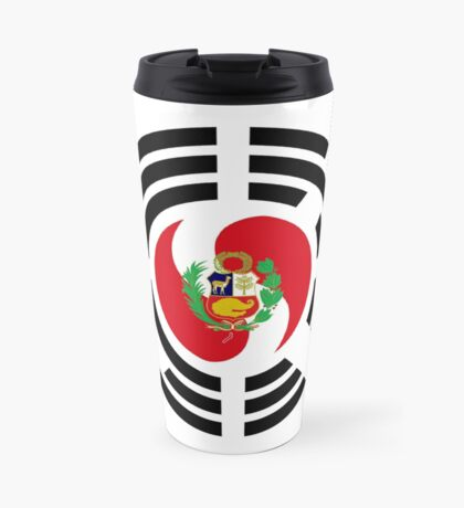 Korean Peruvian Multinational Patriot Flag Series Travel Mug