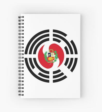 Korean Peruvian Multinational Patriot Flag Series Spiral Notebook