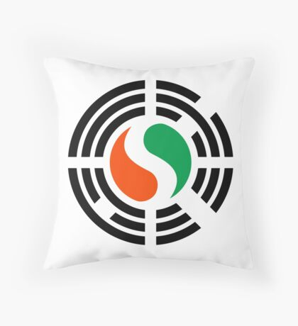 Korean Ivory Coast Multinational Patriot Flag Series Throw Pillow