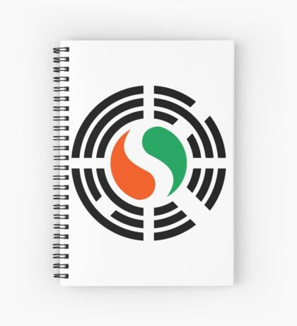 Korean Ivory Coast Multinational Patriot Flag Series Spiral Notebook