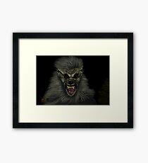 Be Afraid! Framed Print