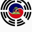 Korean Haitian Multinational Patriot Flag Series by Carbon-Fibre Media