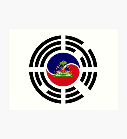 Korean Haitian Multinational Patriot Flag Series Art Print