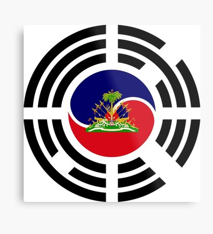 Korean Haitian Multinational Patriot Flag Series Metal Print