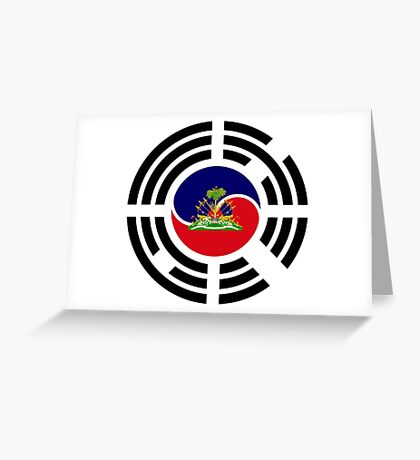 Korean Haitian Multinational Patriot Flag Series Greeting Card