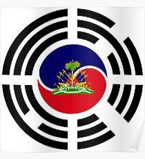 Korean Haitian Multinational Patriot Flag Series Poster