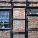 Santa behind the window by Arie Koene
