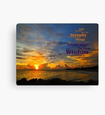 Serenity Prayer Sunset By Sharon Cummings Canvas Print