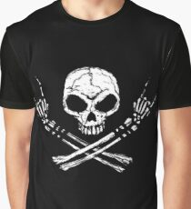 Skull Metal Graphic T-Shirt