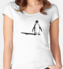 Penguin 2 (ladies T) Women's Fitted Scoop T-Shirt