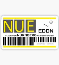 Destination Nuremberg Airport Sticker