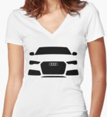Audi RS6 Quattro C7 Women's Fitted V-Neck T-Shirt