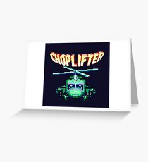 CHOPLIFTER SEGA ARCADE Greeting Card