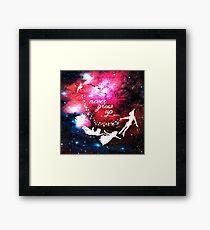 Never Grow Up Galaxy Framed Print