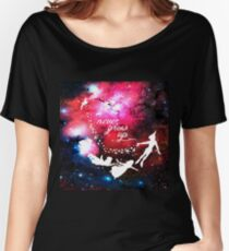Never Grow Up Galaxy Women's Relaxed Fit T-Shirt