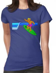 CALIFORNIA GAMES - SURFING - MASTER SYSTEM Womens Fitted T-Shirt