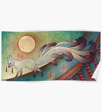 The Messenger - Kitsune, Fox, Yokai Poster