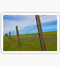 A Fence in the Foothills Sticker