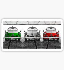 FIAT 600D - Forza Italia version Sticker