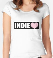 INDIE MUSIC Women's Fitted Scoop T-Shirt