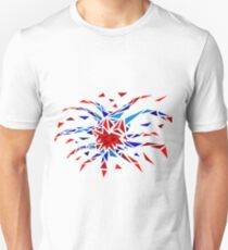 Low Poly Firework Unisex T-Shirt