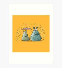 Rain - Cat and Dog Art Print