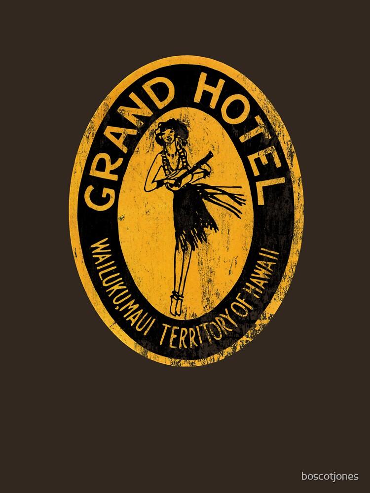 Grand Hotel Hawaii - Retro Art by boscotjones