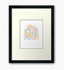 Alphabet Stack Framed Print