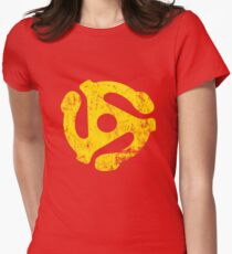 45 RPM Record adapter Tee Womens Fitted T-Shirt