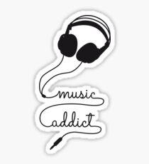 music addict with headphone Sticker