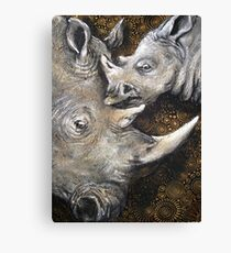 Rhino's — The Spiral of Life Canvas Print
