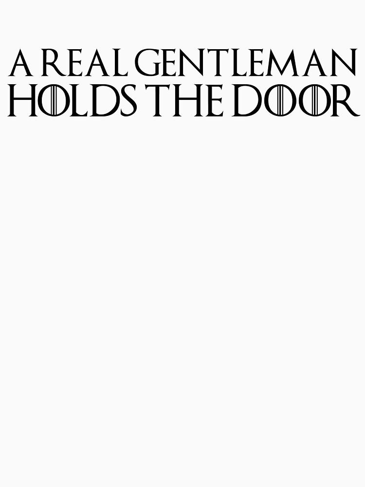 A real gentleman holds the door by herbertshin
