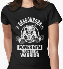 Dragonborn Power Gym Womens Fitted T-Shirt