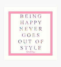 lily pulitzer quote Art Print