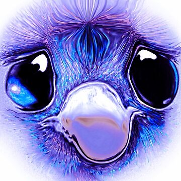 Sad eyed purple baby emu by Julieford