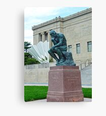 The Thinker and The Shuttlecock Canvas Print