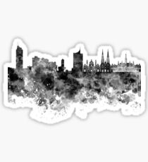 Vienna skyline in black watercolor  Sticker